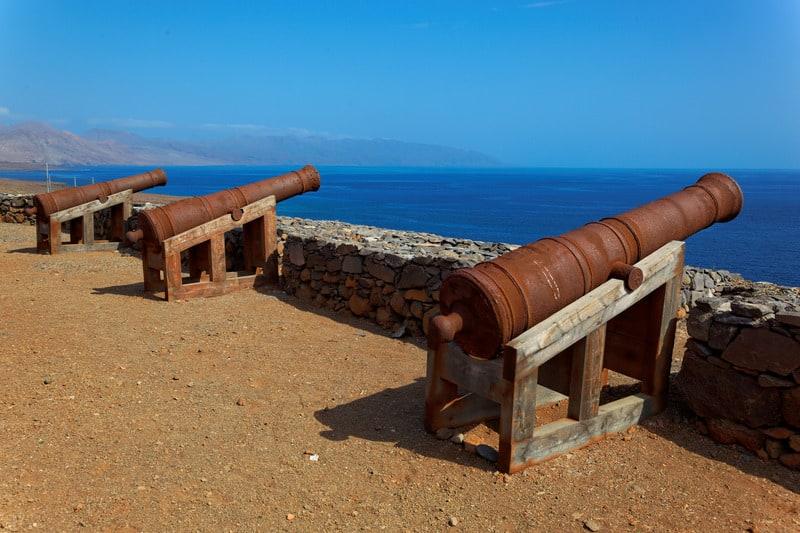 Things To Do in Sao Nicolau, Cape Verde, Cannons on Preguica, Sao Nicolau island, Cape Verde,
