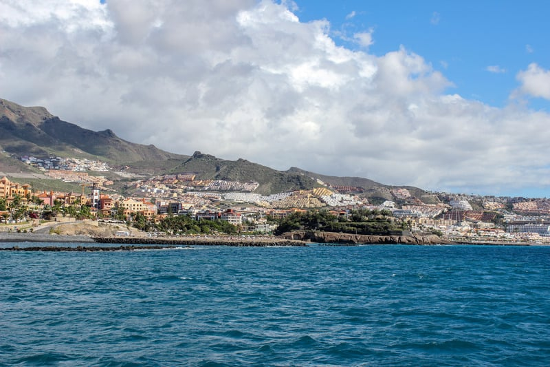 Best Family Hotels in Tenerife, View on the beach of Costa Adeje, Tenerife