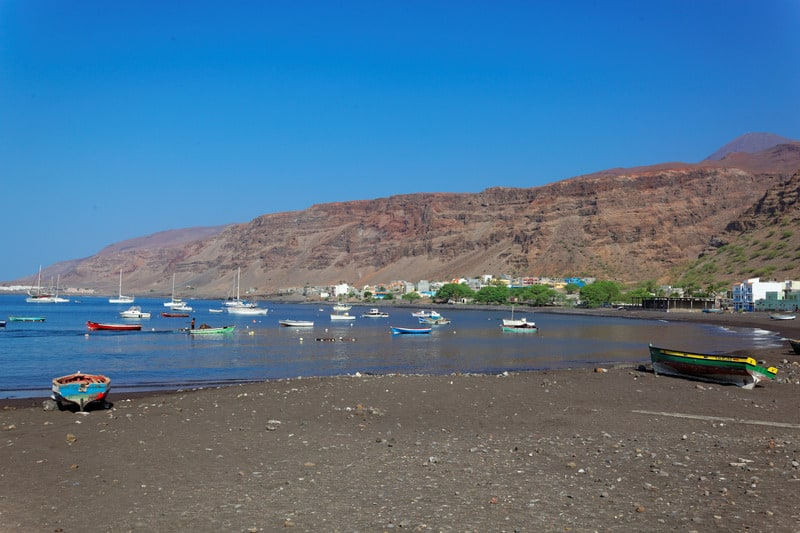 Things To Do in Sao Nicolau, Cape Verde,Fishing boats in bay of Tarrafal, Sao Nicolau, Cape Verde
