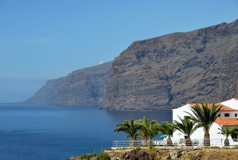 Best Family Hotels in Tenerife, View of  los gigantes canyons, Spain