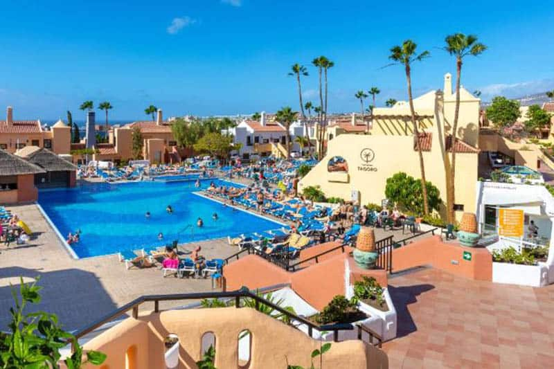 Best Family Hotels in Tenerife, Inside hotel view  with outdoor pools