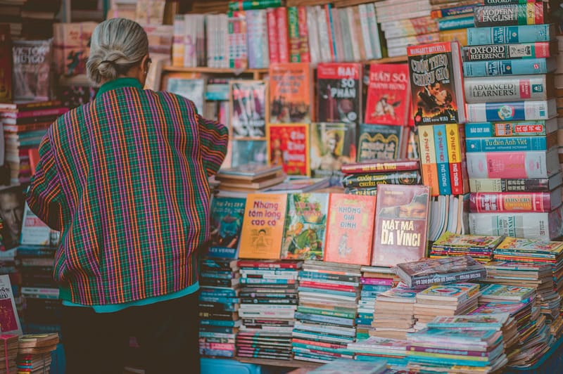 Woman Standing Beside Book Store, sustainable travel, How to Support Small Business, How to help Small Business, local shops, small entrepreneur