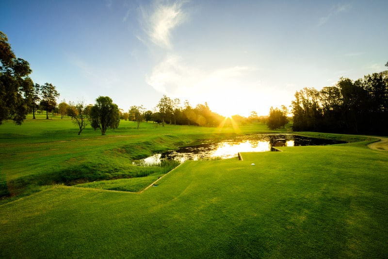 Golf course, sunset, Environmentally Friendly Golf Courses