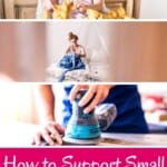 Wondering how to support small business from home? A list with creative ideas on how to support small business for free. What's your favorite wy to help small business from home? #smallbusiness #friendsbusiness #supportsmallbusiness #supportsmallentrepreneurs #helpsmallbusiness #sustainabletravel #smallbusinessquotes