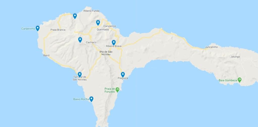 sao nicolau cabo verde map