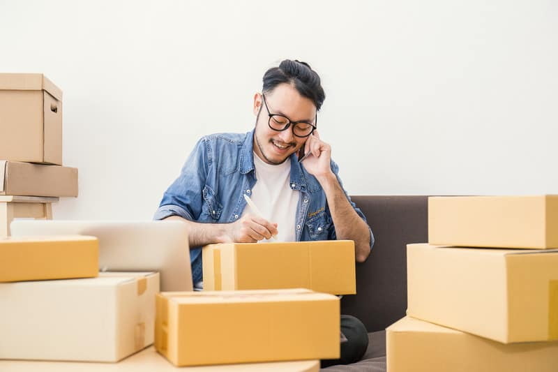 start up small business entrepreneur or freelance man working at home concept, Young Asian small business owner at home office, on line marketing packaging and delivery, How to Support Small Business, How to help Small Business, local shops, small entrepreneur