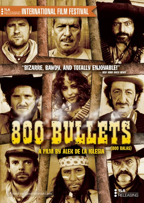 Western Movies Set in Spain, Movie poster of 800 Bullets