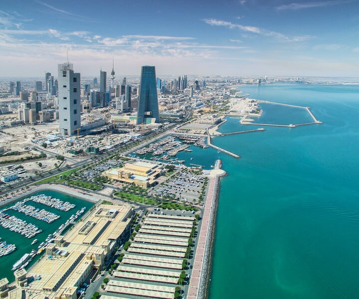 Beautiful Kuwait, middle east, aerial view