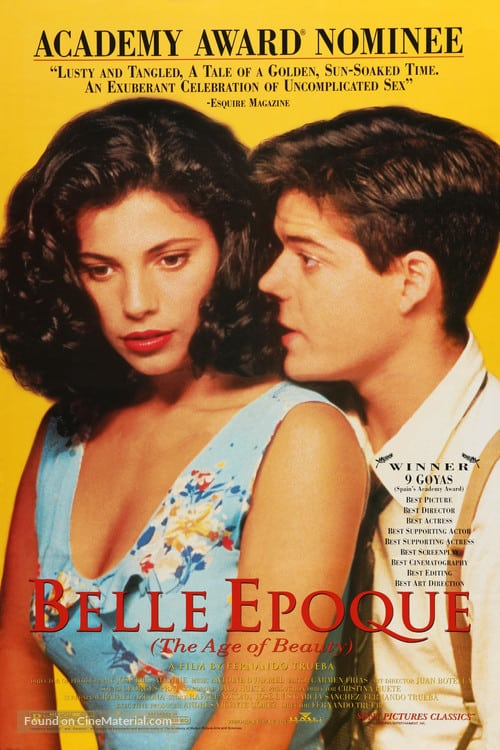 Best Romantic Movies Filmed in Spain, Movie poster of Belle Epoque