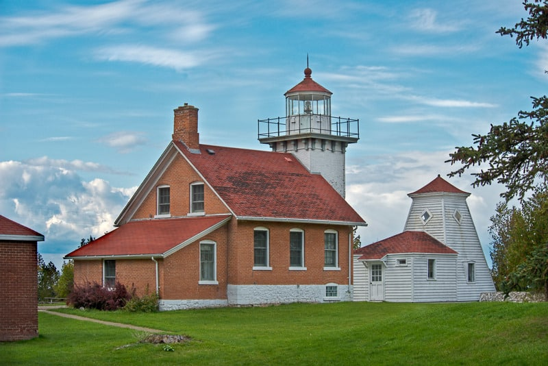 Best Things to do in Door County, WI, Best view of Eagle Bluff Lighthouse is located in Peninsula State Park
