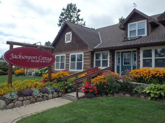 Best Things to Do in Door County, WI , Shop Front view of Jacksonport Cottage for shopping in Door County