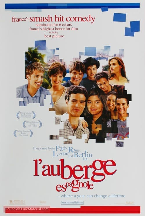 Best Movies set in Spain, Movie poster of L'Auberge Espagnole (The Spanish Apartment)