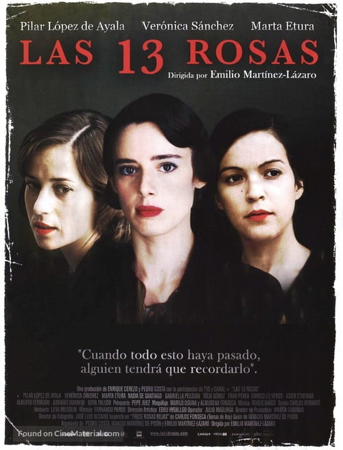 History Movies Set in Spain, Movie poster of Las 13 Rosas