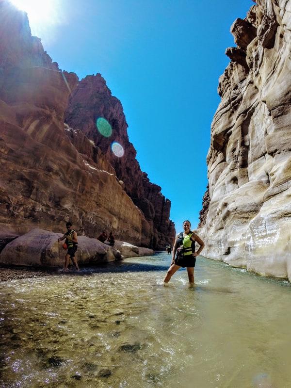 hiking wadi mujib trail, best treks in jordan