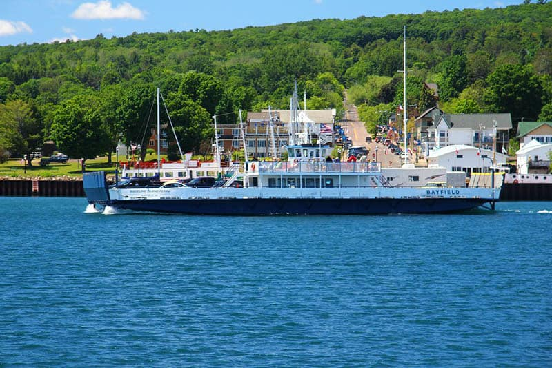 fun things to do in Madeline Islan Wisconsin, Ferry on the shores of Madeline Island