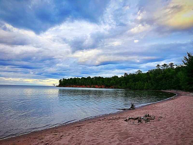 Things to do in Northern Wisconsin, Front beach view on Madeline Island