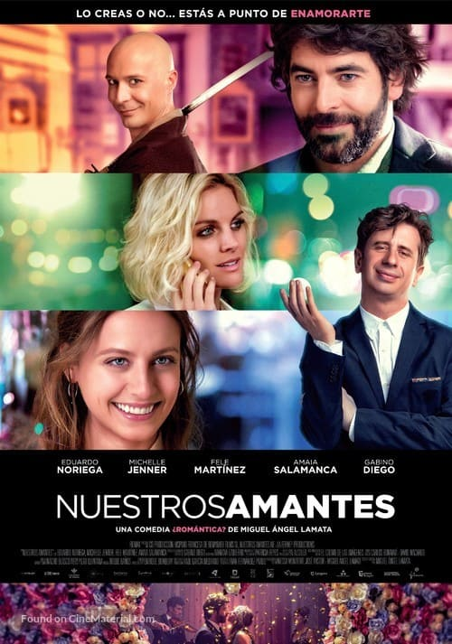 Romantic Movies Filmed in Spain, Movie poster of Our Lovers (Nuestros Amantes)