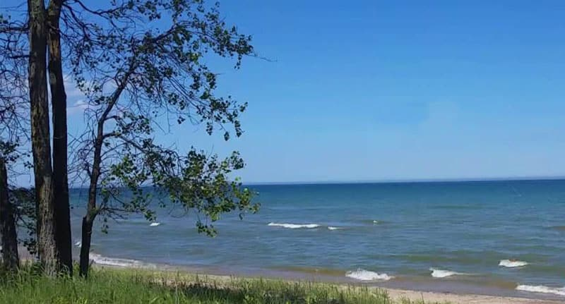 Best Beaches in Wisconsin, View of Point Beach State Forest
