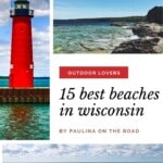 Are you looking for the best beaches in Wisconsin? I got you covered with a selection of the best beaches in Northern, Central and South Wisconsin! Whether you are looking for Lake Michigan beaches in Wisconsin or scenic beaches in Door County, Wisconsin, there is a Wisconsin lakeside beach closeby! Some of my favorite Wisconsin beaches are near Port Washington, Wisconsin and on Washington Island, Wisconsin. #wisconsin #wisconsinbeaches #bestbeacheswisconsin #doorcountybeaches #usabeaches #usa