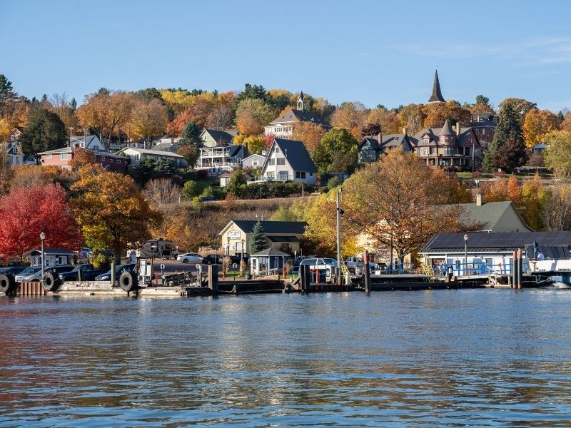 Cityscape view of Bayfield Wisconsin