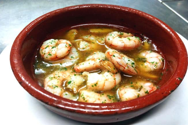 traditional Food from Southern Spain, Gambas al Ajillo dish