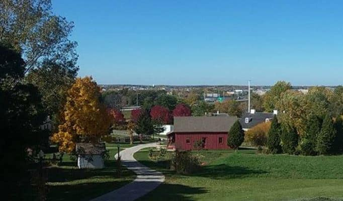 Best things to do in Green Bay, full view of Heritage Hill State Park in Green Bay