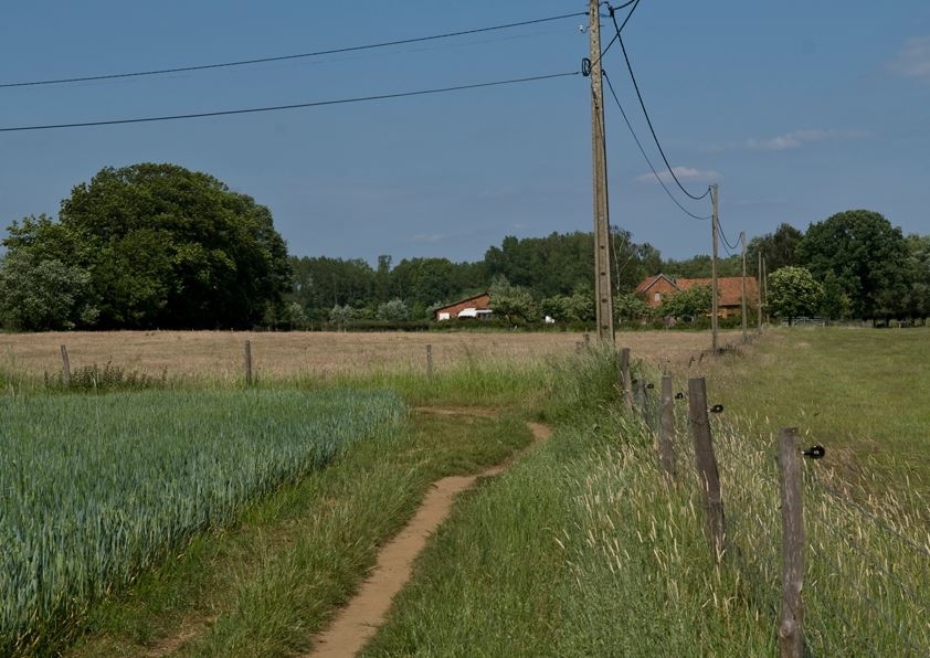 Best Hiking Trails in Flanders Region, Belgium, View of the farm in the village