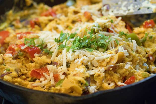 Famous Food from Central Spain, Migas dish