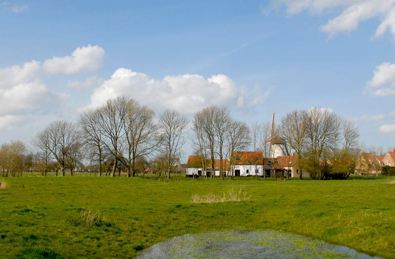 Best historical Hiking Trails near the Belgian Coast,  Uilenspiegel in the border area of Holland and Belgium