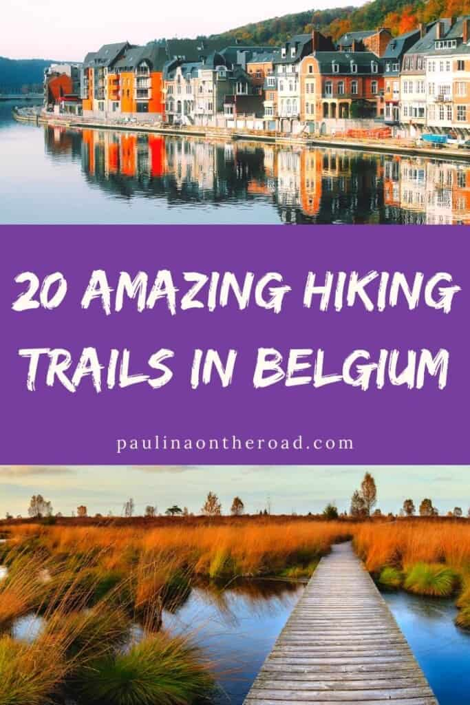 Hiking in Belgium? Oh yes! Belgium is actually a fabulous destination to visit for hikers and let me take you to the best hiking trails in Belgium. No matter if you want to explore trails near Brussels, or discover the Ardennes, Belgium or want to do walks near the coast of Belgium: there are walks in Belgium for every level. Some of them are great things to do near Bruges or Brussels too! Let's explore the countryside of Belgium. #belgium #hikingbelgium #hikingeurope #hikingtrails #walking