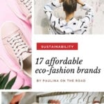 Are you looking for sustainable fashion brands that don't ruin your budget? I put together the ultimate guide with the best affordable eco-friendly clothing brands out there. Indeed sustainable fashion outfits can be cheap as below 25$. Nowadays there are great ecofashion brands out there and their sustainable fashion pieces include sports outfits, shoes, and even socks. They respect eco-friendly fashion packaging too! #ecofriendly #sustainable #sustainablefashion #ecofriendlyfashion #ecofashion