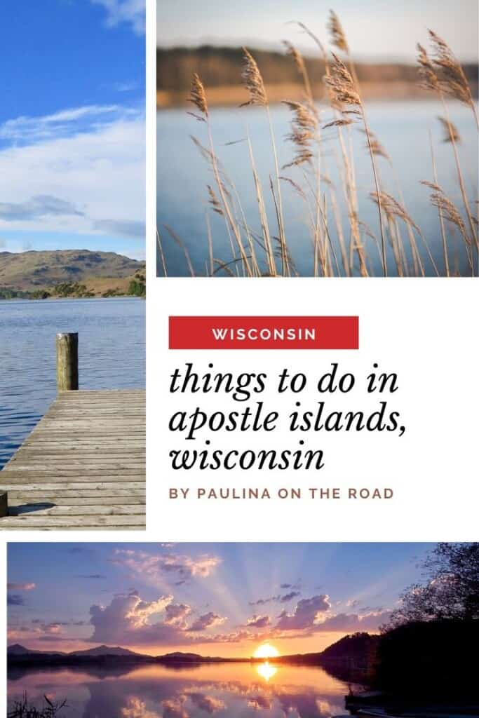 Are you heading to the Apostle Islands, Wisconsin? Enjoy the ultimate guide with things to do in Apostle Islands, WI. Whether you are looking for hotels in Apostle Islands, cabins in Northern Wisconsin or attraction in Apostle Islands for first-time visitors: this guide has got you covered. Explore the National Lakeshore of Apostle Islands, heaven for outdoor lovers. Read also abou the best kayaking spots, restaurants and lodging. #wisconsin #apostleislands #apostleislandslakeshore #wisconsinusa