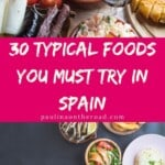 Are you wondering what to eat in Spain? Find a selection with the best food to try in Spain and dishes that you must eat when traveling to Spain. This post is categorized into the different areas of Spain so you'll learn about traditional dishes from Southern Spain and what to at in Barcelona etc. The best is that this Spanish food post comes with authentic Spanish recipes to cook Spanish cuisine at home! #whattoeatinspain #spainfood #spanishfood #traditionalfoodspain #spanishrecipes #authenticfood
