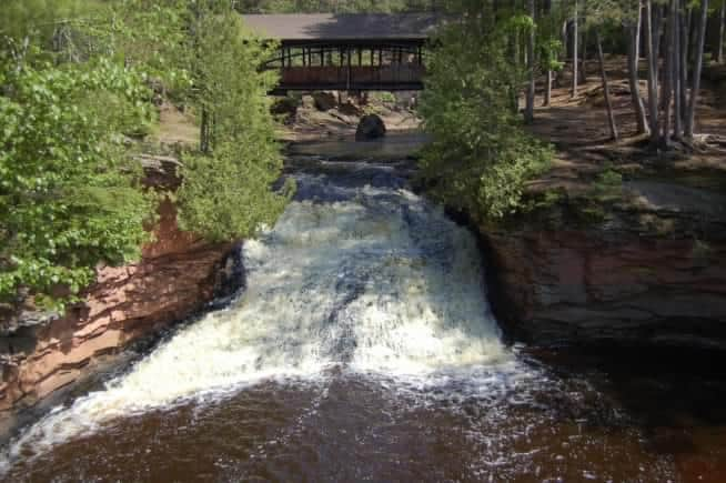 Best waterfalls in state park of Wisconsin, Amnicon Falls State Park, South Range