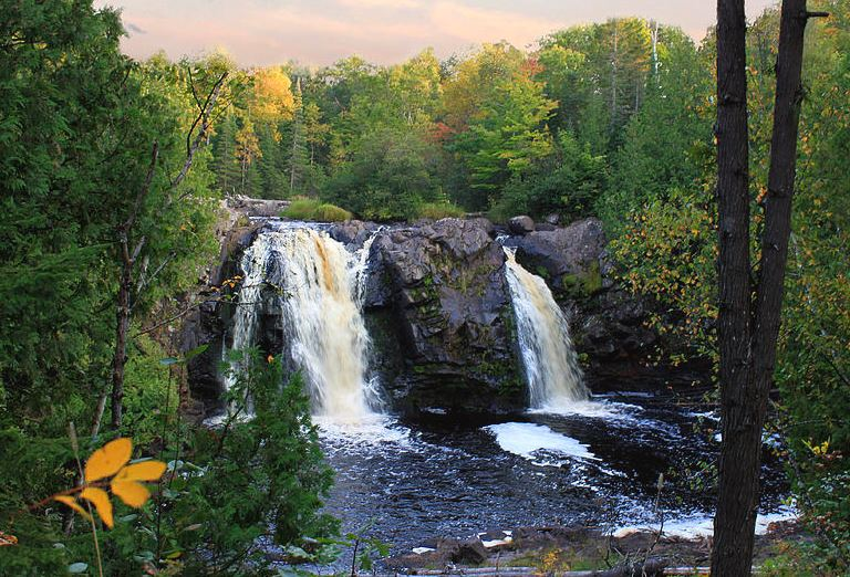 romantic hike in northern Wisconsin, Big Manitou Falls, Pattison State Park, South Range