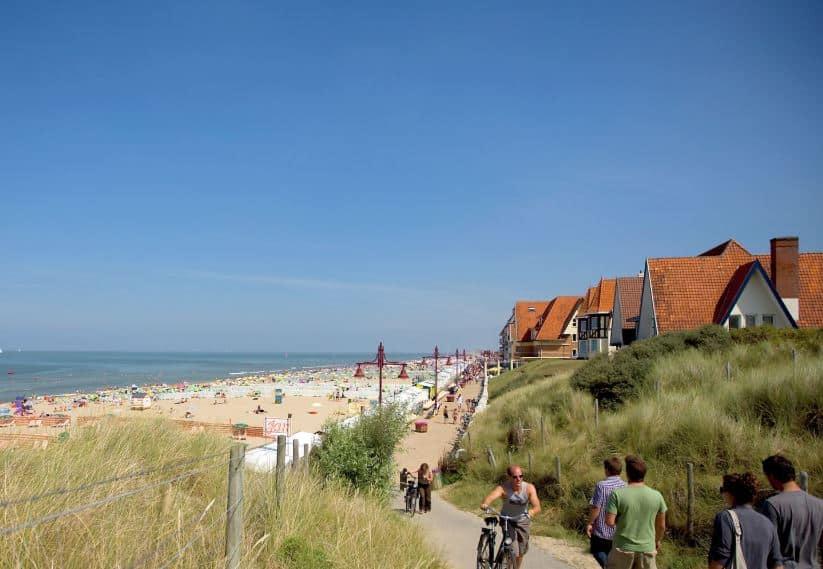 Best resort city in Belgium, view of beach in De Haan-Wenduine