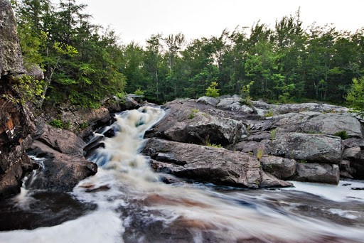 larger tour of waterfalls in Northern Wisconsin, Foster Falls, Upson