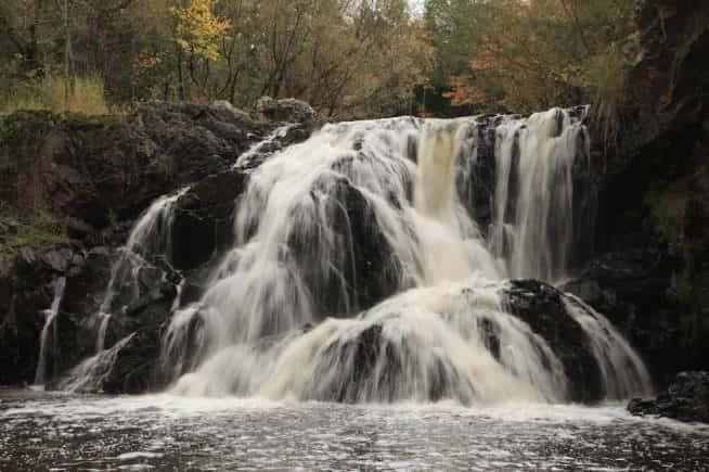 Best Waterfalls in Northern Wisconsin, Interstate Falls, Hurley