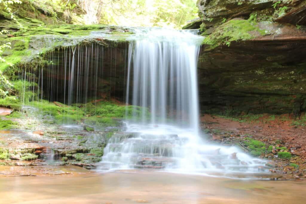 The highest waterfalls in Wisconsin, Lost Creek Falls, Cornucopia