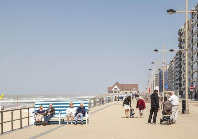 One of the most popular beach resorts in Belgium, View of Middelkerke-Westende