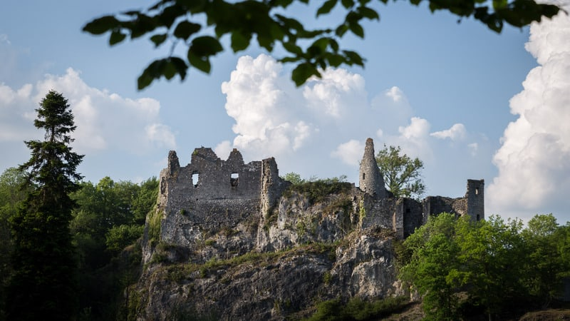 oldest castles in belgium, ruins of Montaigle Castle