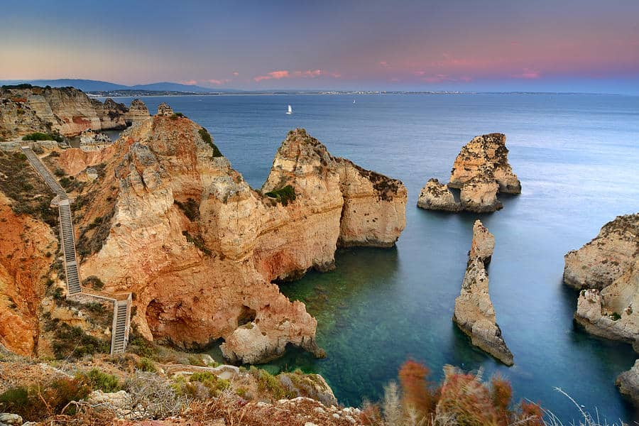 Best Beaches in Algarve for cliffs, Top view of Ponta da Piedade, Lagos