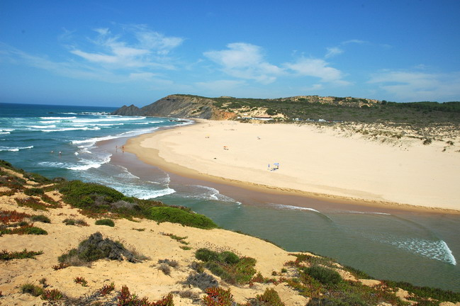 wonderful beach in Algarve, Portugal, Praia da Amoreira, Aljezur