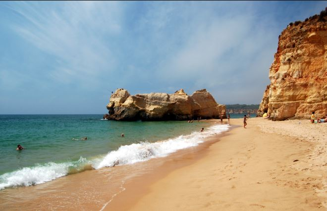 The best beaches for swimming in Algarve,  Praia da Rocha, Portimao