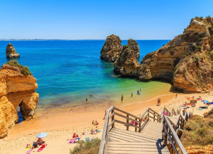 Best Beaches in Algarve, Praia do Camilo, Lagos