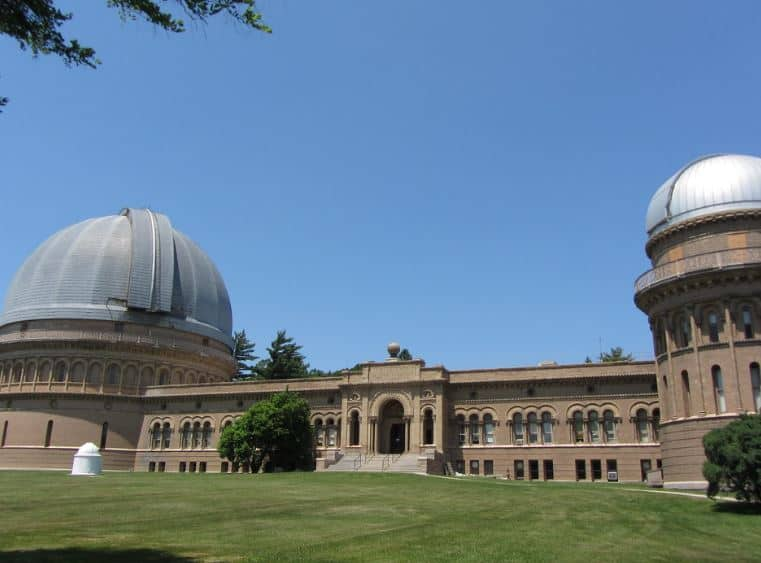 Historical and astronomical in Lake Geneva, Front view of Yerkes Observatory