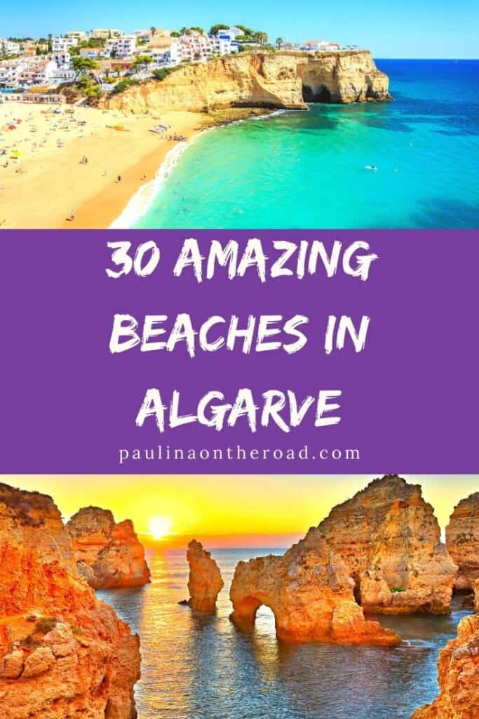 Are you looking for the best beaches in Algarve, Portugal? Find a selection with the best Algarve beaches whether you are looking for beaches close to Albufeira, stunning cliff beaches of Insta-famous beaches in Southern Portugal. This post comes with a map of the best Algarve, Portugal beaches so that you can easily explore them yourself. An ultimate selection of Algarve beaches near Lagos, Portimao and Faro. #algarve #algarvebeaches #bestbeachesportugal #portugalbeaches #albufeirabeach #beach