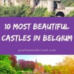 Looking for the best castles in Belgium? Learn more about the most beautiful castles in Belgium hand-picked by a castle-expert! Find out about fascinating histories and even Belgian castles where you can actually stay overnight. No matter where you are looking, this list encompasses a selection of hidden gems and beautiful must see castles in Belgium. #belgium #castle #belgiancastle #castlesinbelgium #castlehotels #medievalcastles #belgianchateaus #gravensteen #gothiccatles #castlesinflanders