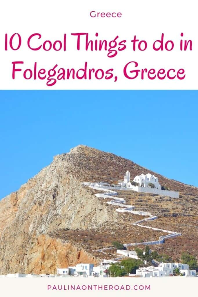 Are you wondering what to do in Folegandros, Greece? Explore this less known Cycladic island in Greece and fall in love with its gorgeous beaches and tasty food. Indeed Folegandros' beaches are some of the prettiest and secluded beaches of all Greek islands. This visitor guide takes you to the best hotels in Folegandros, where to eat and best beaches on this Cycladic island. Enjoy one of the prettiest and lesser-known Greek islands. #folegandros #greece #folegandrosgreece #europe #cycladicislands