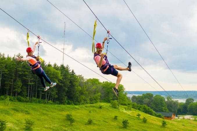 best activities in Lake Geneva, zip-lining in Lake Geneva